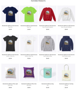 Items on Sale via Internet only at this time